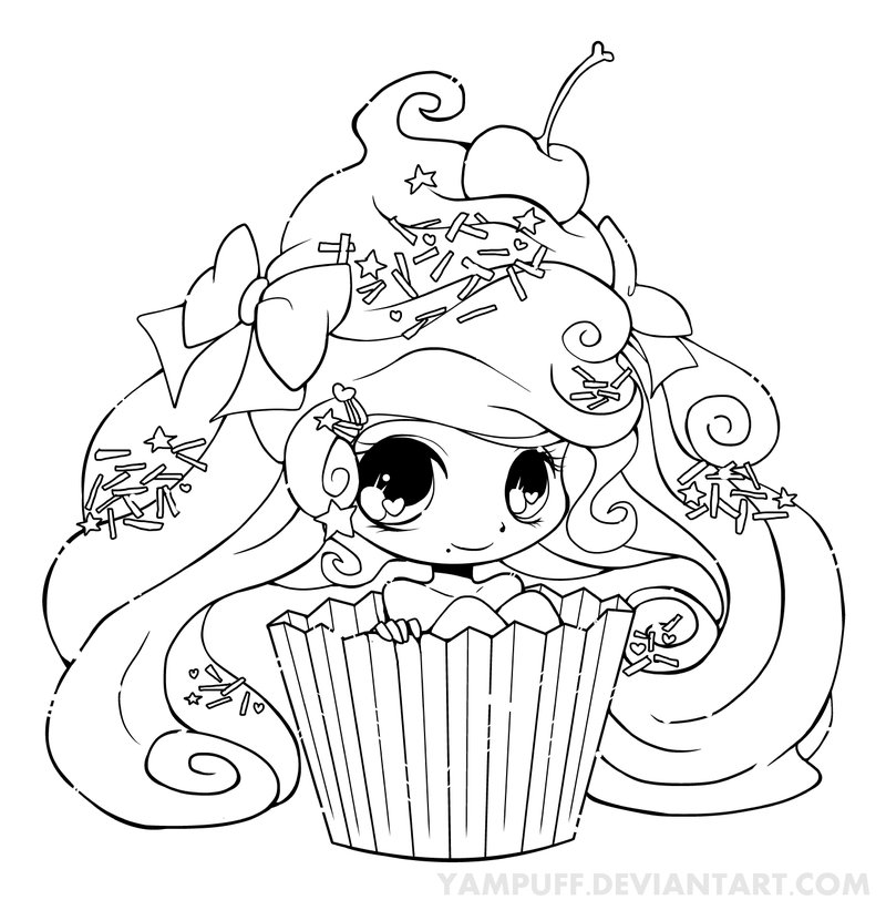 Cute Muffin Drawing at GetDrawings.com | Free for personal use Cute ...