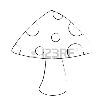 450x450 Cute Mushroom Isolated Icon Vector Illustration Design Royalty