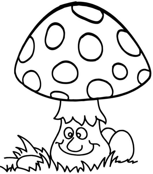 530x604 Cute And Funny Mushroom Coloring And Activity Page Mushroom