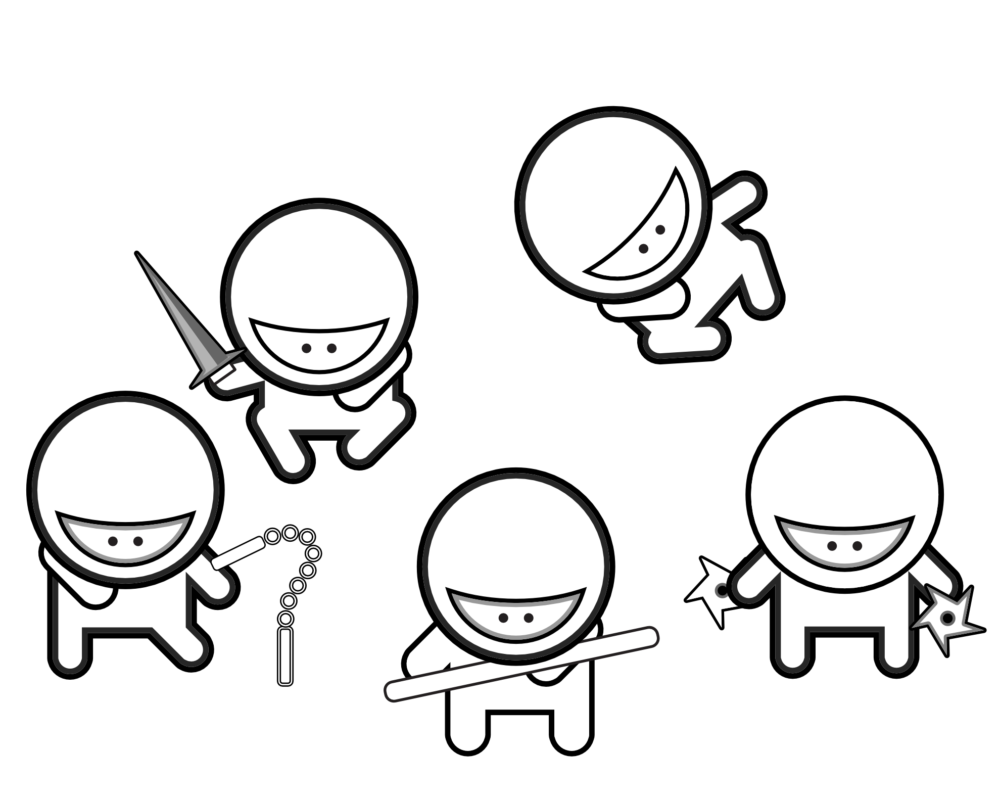 Cute Ninja Drawing
