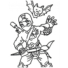 ninja coloring pages for girls - photo#41