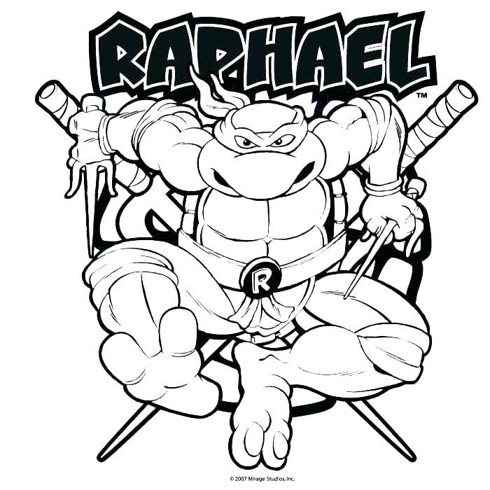 700x700 Coloring Pages Turtles Ninja