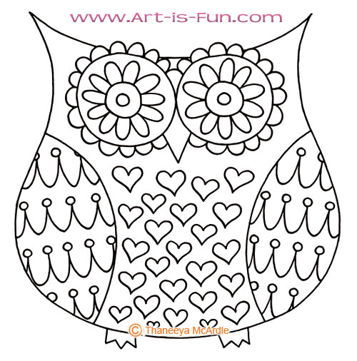 500x506 How To Draw An Owl Learn To Draw A Cute Colorful Owl In This Easy
