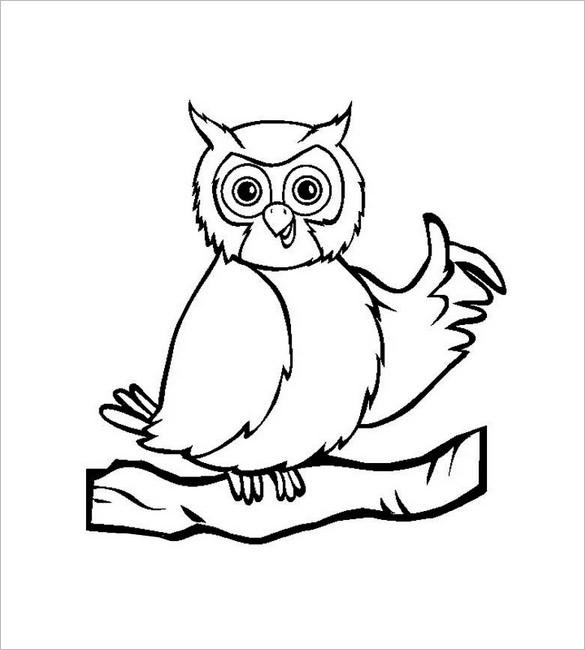 585x650 Owl Template