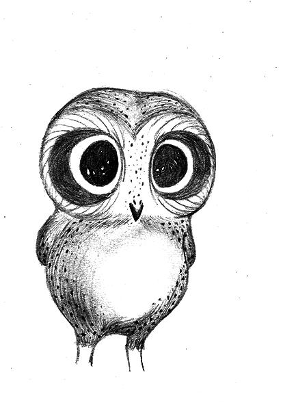 414x589 Cute Owl By Amandasilva28