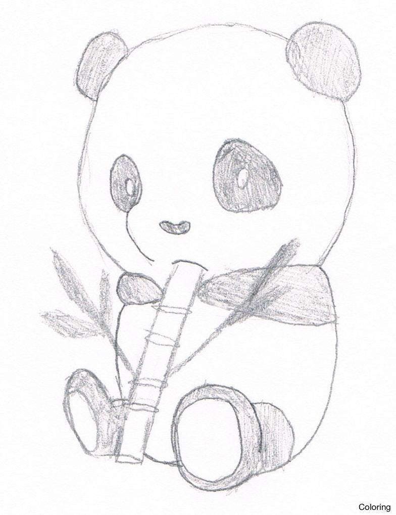 Cute Panda Drawing At Getdrawings Com Free For Personal