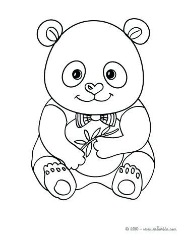 363x470 Cute Panda Coloring Pages For Kids Printable Free Book Baby Murs