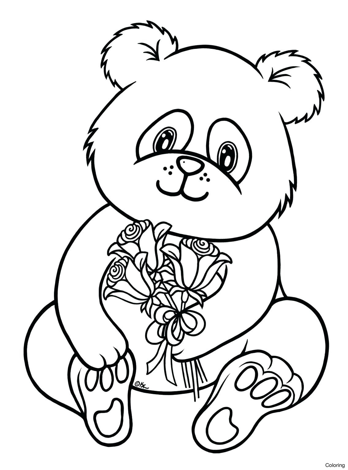 1135x1531 Cute Panda Coloring Pages Printable Cartoon Baby Diaiz