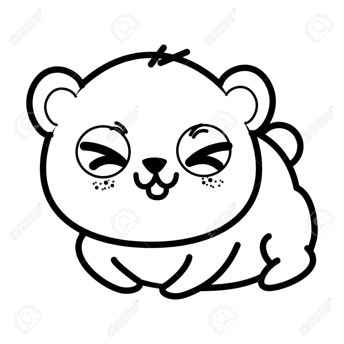 1300x1300 Isolated Cute Panda Bear Icon Vector Illustration Graphic Design