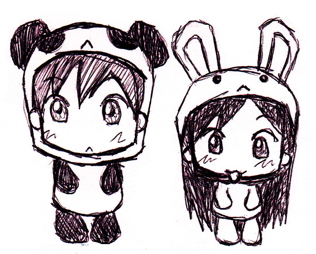 1082x872 Bunny And Panda By Refinnej24