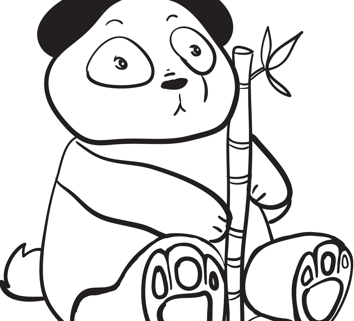 1159x1050 P Is For Panda Coloring Page Free Printable Cute Animals Pages