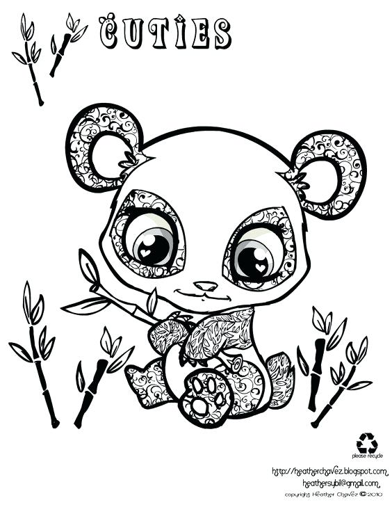 564x729 Coloring Pages Draw A Panda Bear