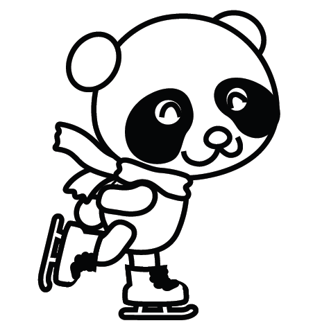 464x479 Cute Panda Coloring Pages 502768
