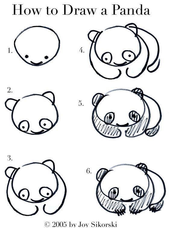 564x753 Steps Draw A Cartoon Panda Tags Steps Draw A Panda How