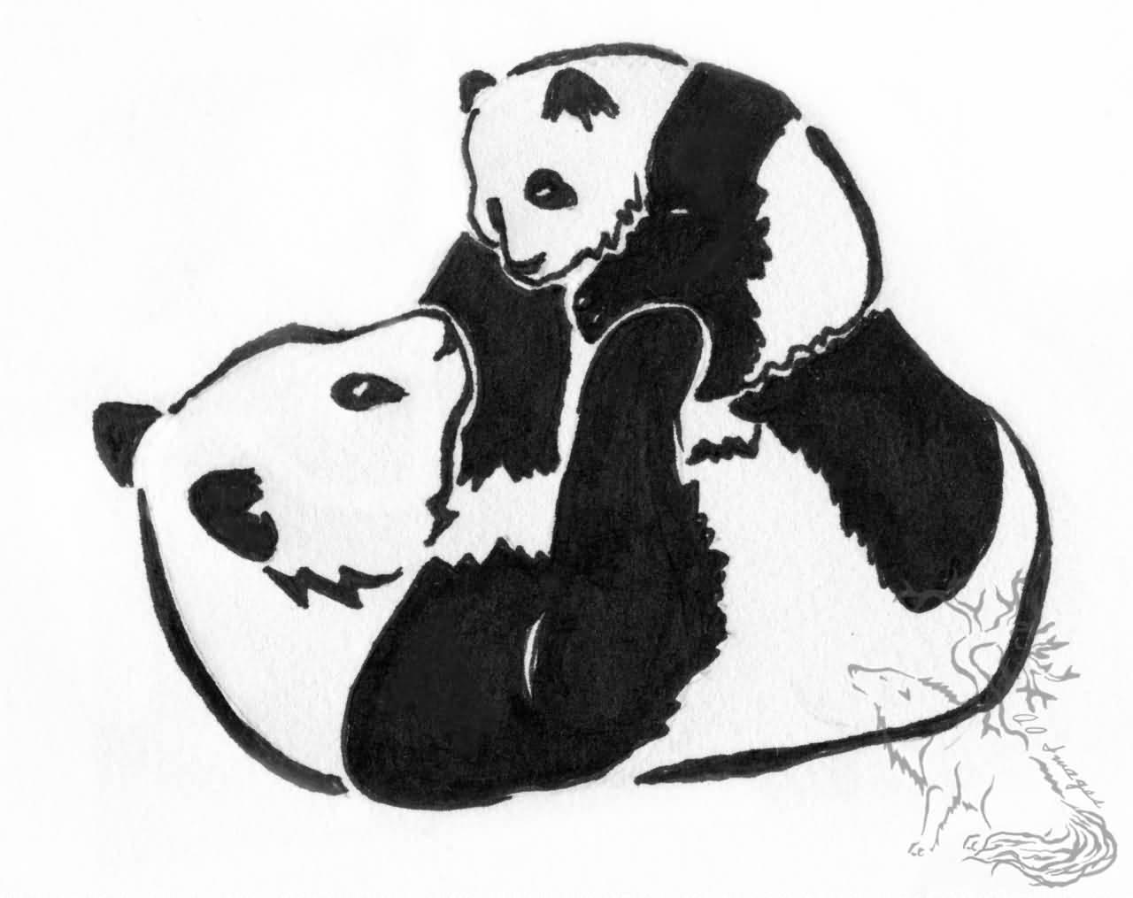1280x1015 Panda Tattoo Designs