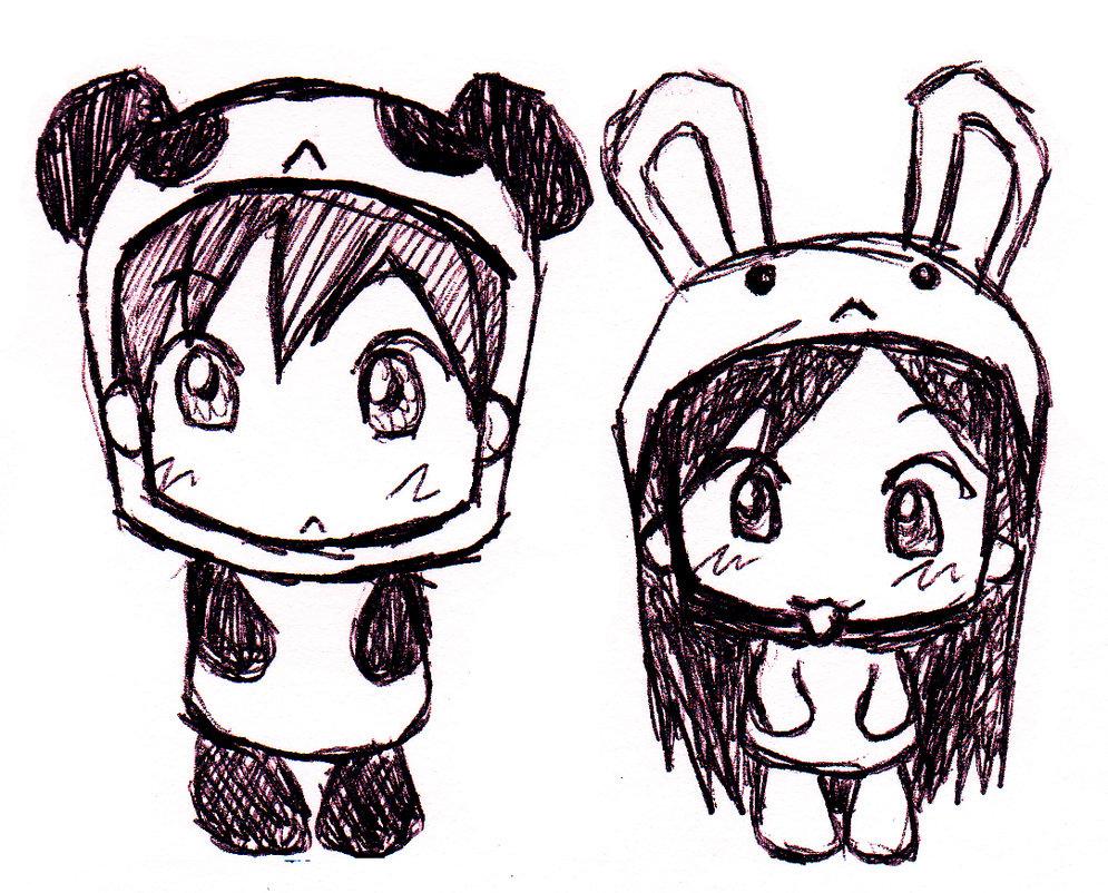 995x802 Bunny And Panda By Refinnej24