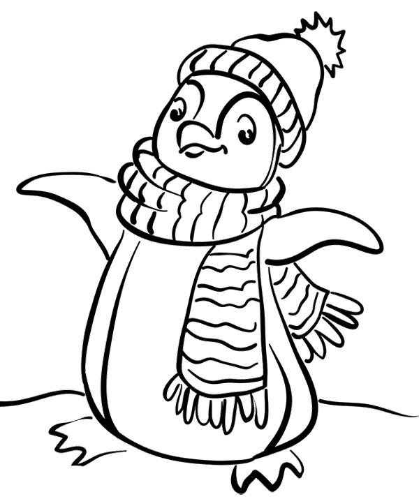 Cute Penguin Drawing at GetDrawings.com | Free for personal use Cute ...