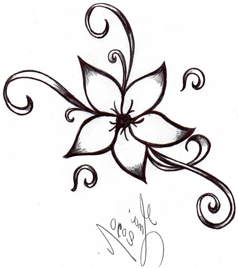 900x1016 Cute And Easy Pics Of Flower For Drawing Drawings Of Cool Flowers