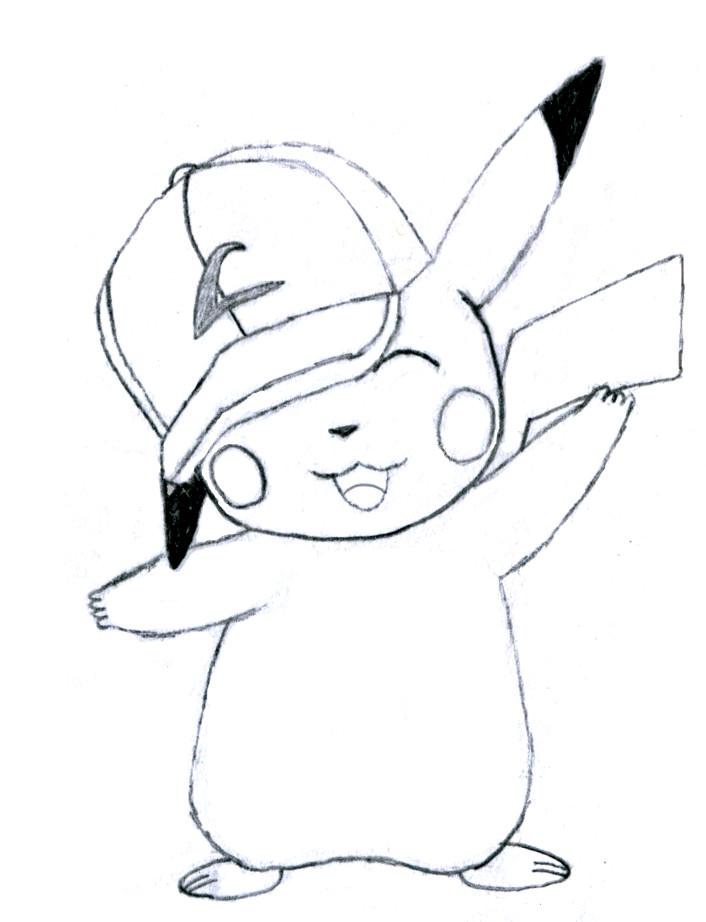 Cute Pikachu Drawing