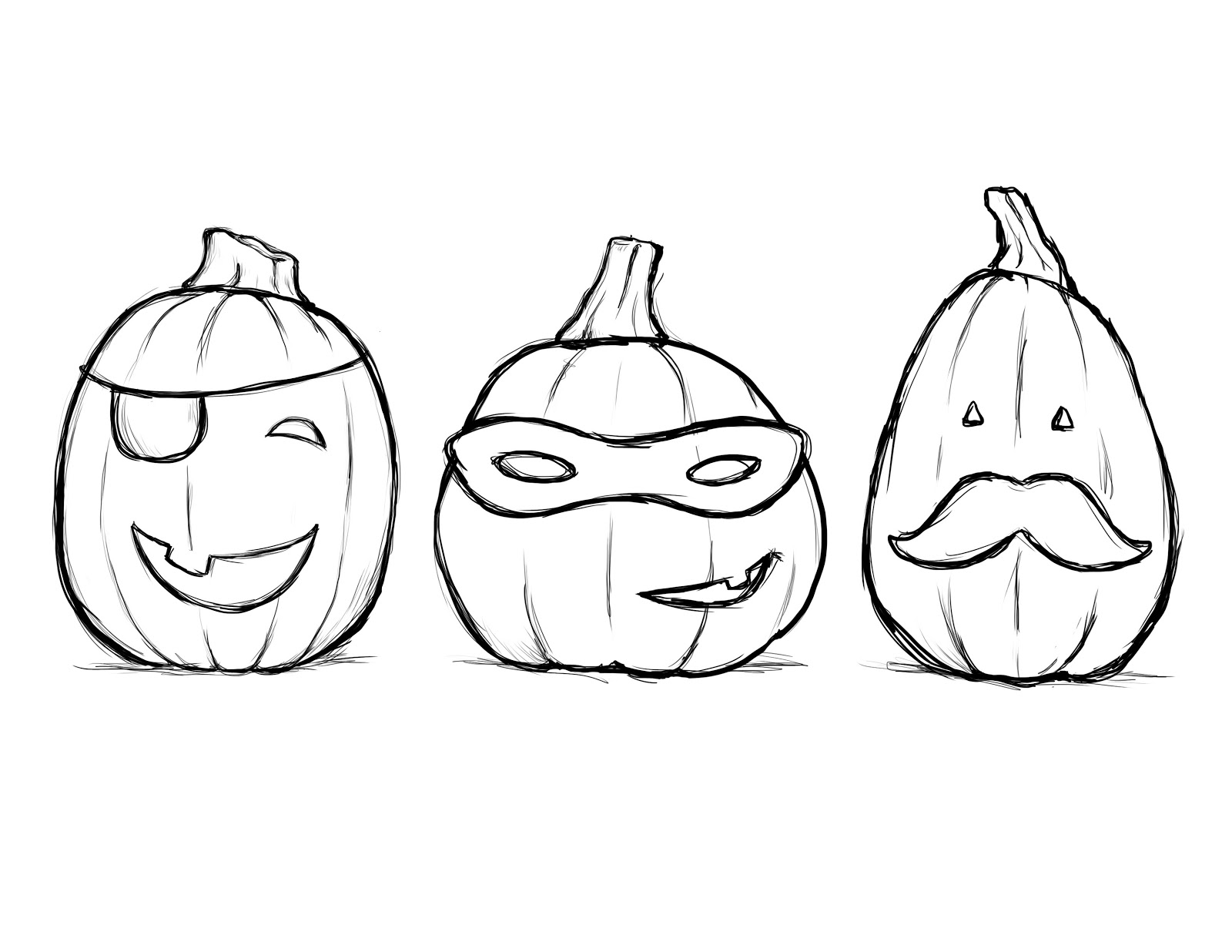 1600x1236 Cute Pumpkin Coloring Pages For Kids