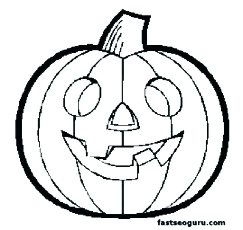 790x749 Free Printable Pumpkin Coloring Pages