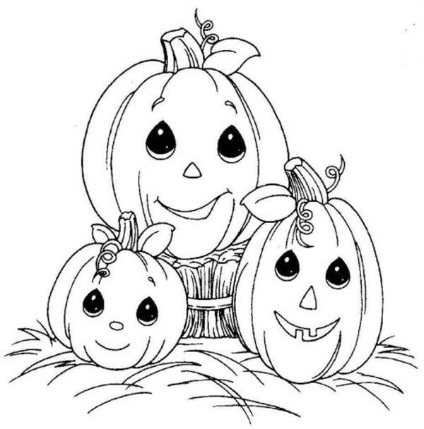 600x608 Halloween Pumpkin Coloring Pages To Print