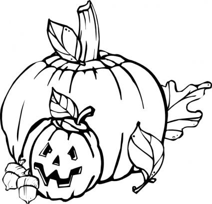 425x409 Open Pumpkin Clipart