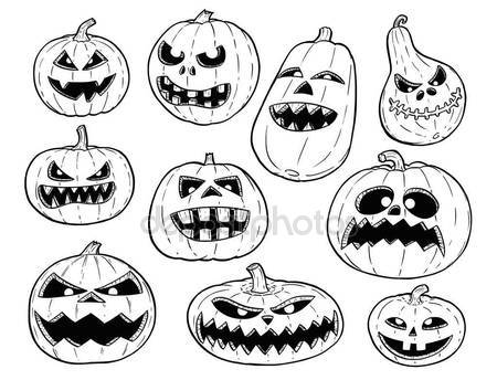 450x344 Pumpkin Smiling Halloween Harrasment Horror Spooky Hand Drawing