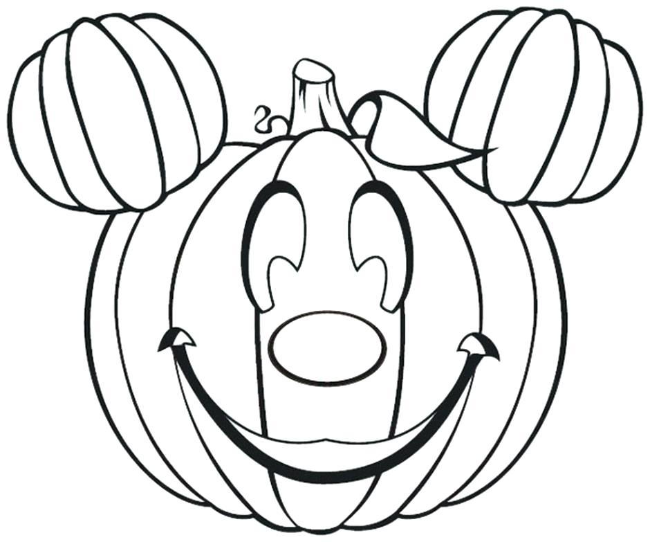 940x783 Top Disney Halloween Coloring Pages Online To Print Cute Pumpkin