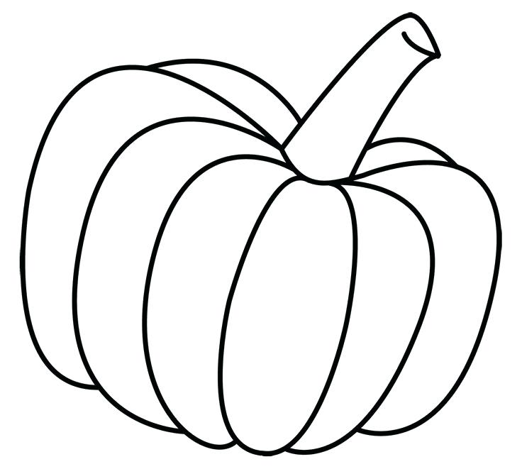 736x661 Blank Pumpkin Coloring Page