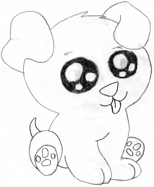 Cute Puppies Drawing at GetDrawings | Free download