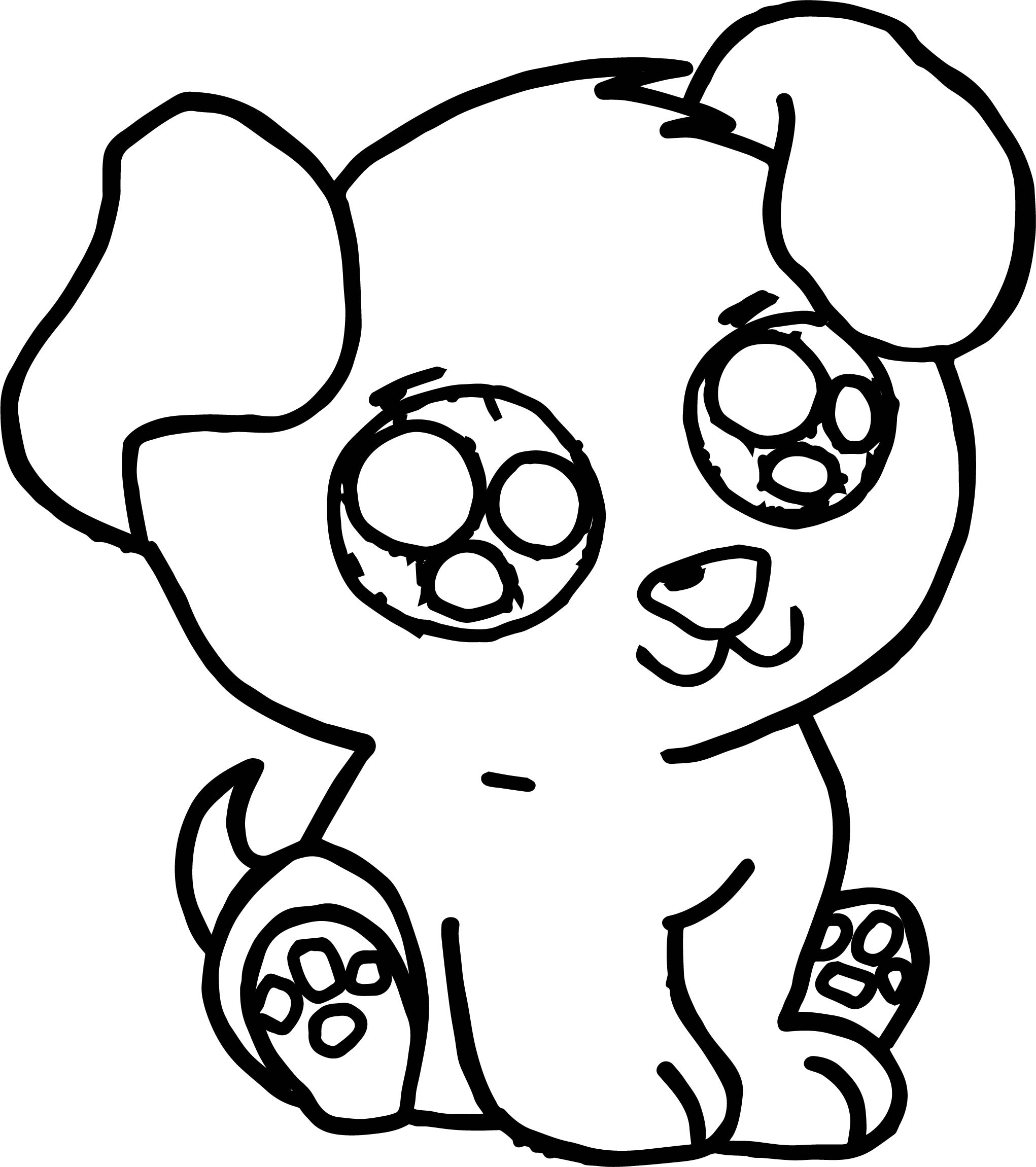2042x2301 Cute Puppy Coloring Pages