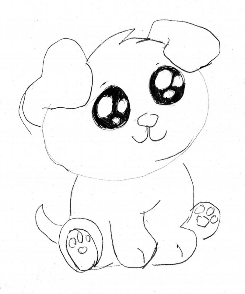 805x964 Drawing Cartoon Puppy Drawing Step By Step Together With Cartoon