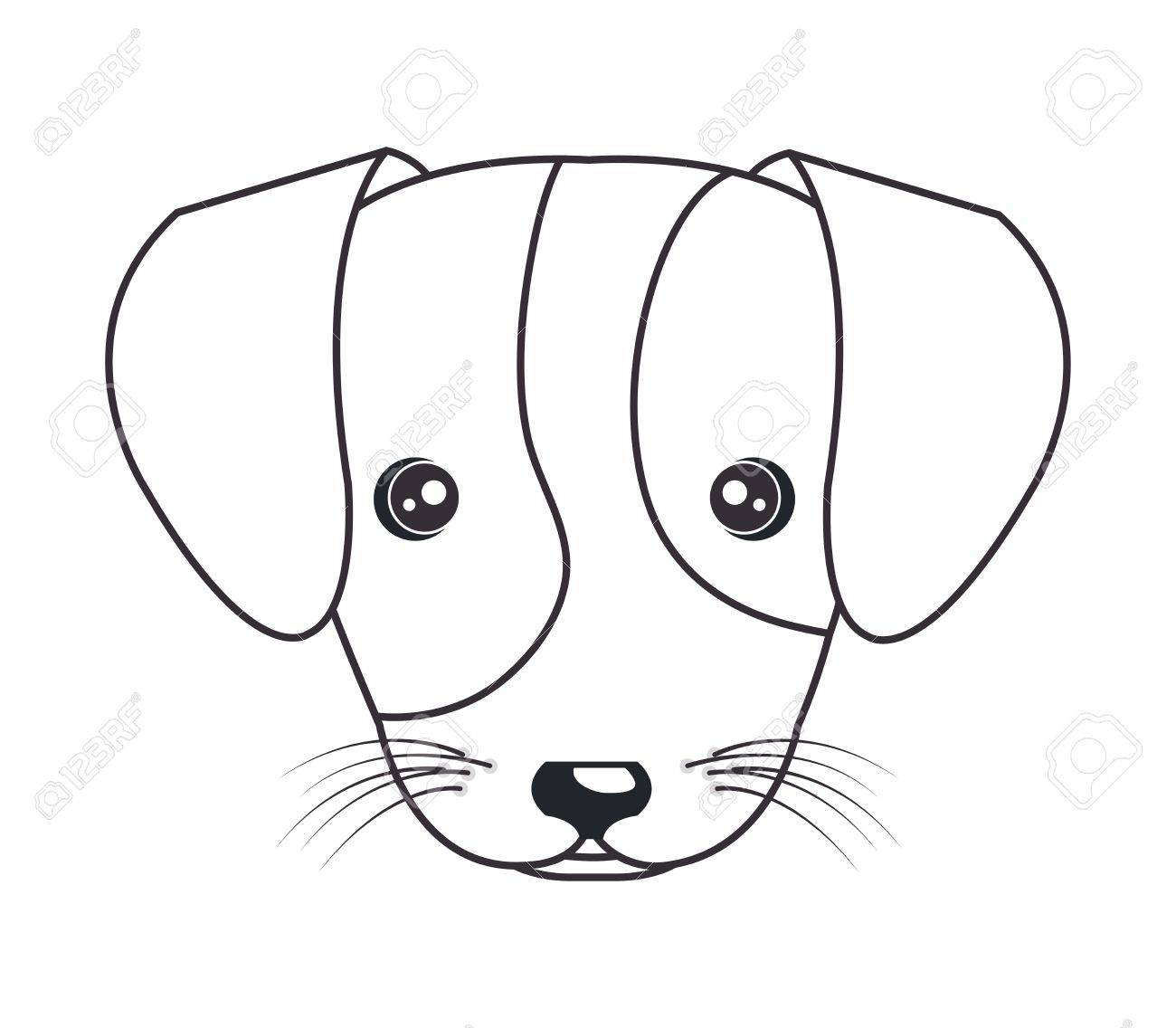 1300x1136 Cartoon Cute Puppy Hand Draw Vector Illustration Eps 10 Royalty