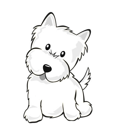 400x430 Imgs For gt Puppy Color Drawing coloring pages Pinterest