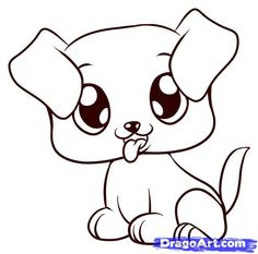 236x233 how you draw a cute dog How to Draw a Beagle Puppy, Beagle Puppy