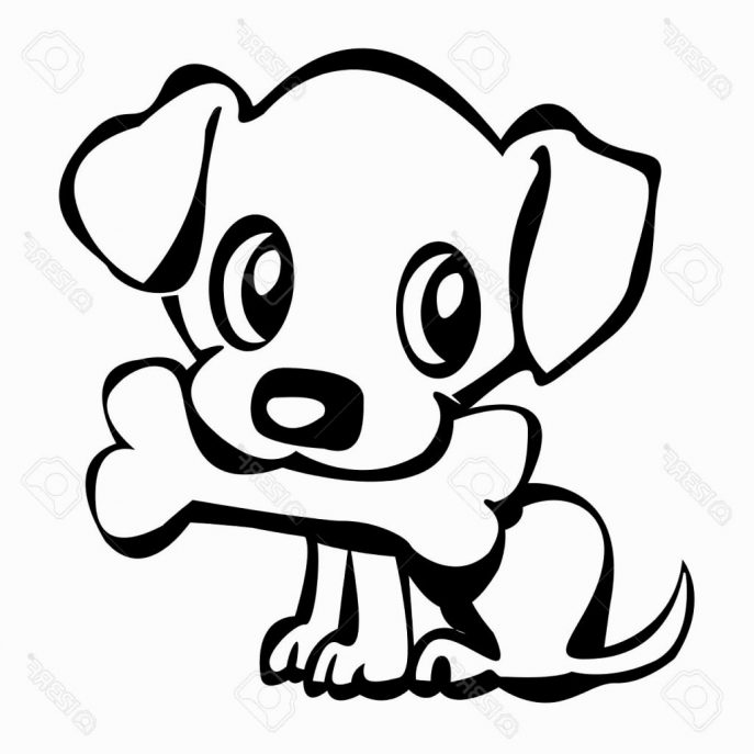 687x687 Coloring Pages Puppy Drawing Puppy Drawings For Kids' Puppy