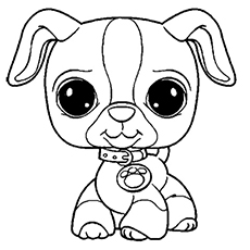 230x230 littlest pet shop coloring pages for kids - Puppy Coloring Pages