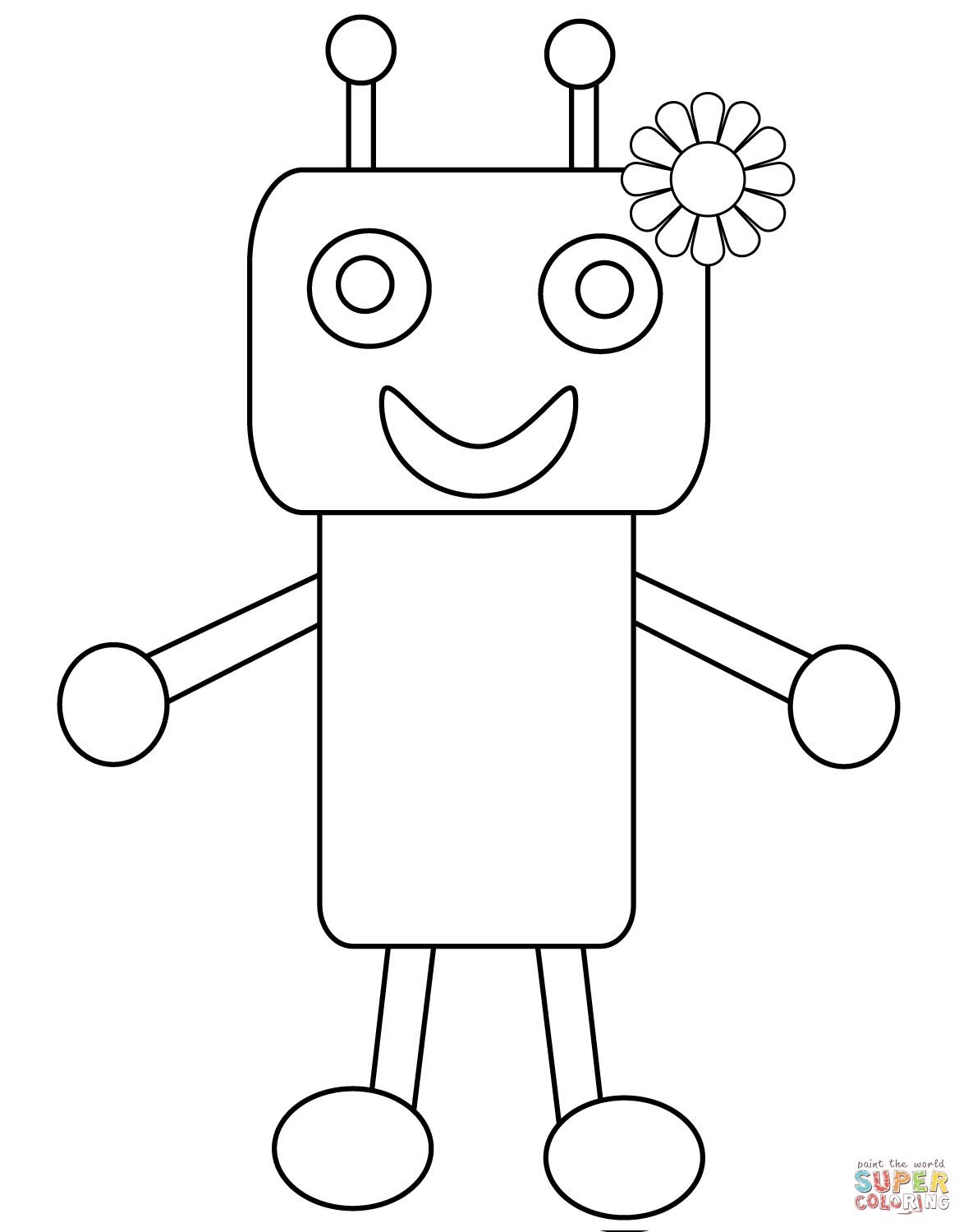 Cute Robot Drawing at GetDrawings.com | Free for personal use Cute ...