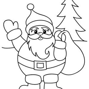 300x300 Cute Santa Claus Coloring Merry Christmas Amp Happy New Year Arts