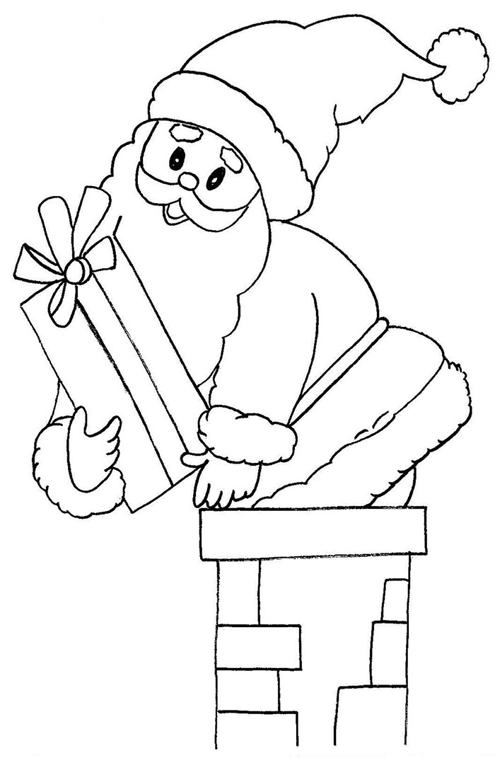 700x1071 Best Santa Templates Shapes, Crafts Amp Colouring Pages Free