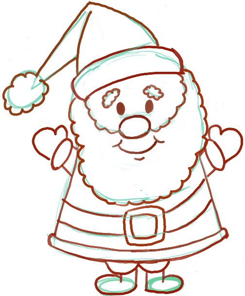 503x606 Pretentious How To Draw Cartoon Santa Claus Drawing