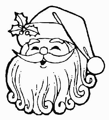 362x400 santa claus coloring page - Cute Santa Coloring Pages