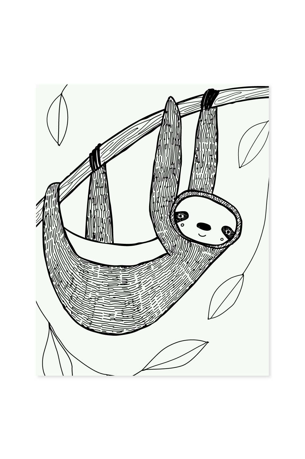 1000x1504 Sloth Art Print Sloth, Printing And Illustrations