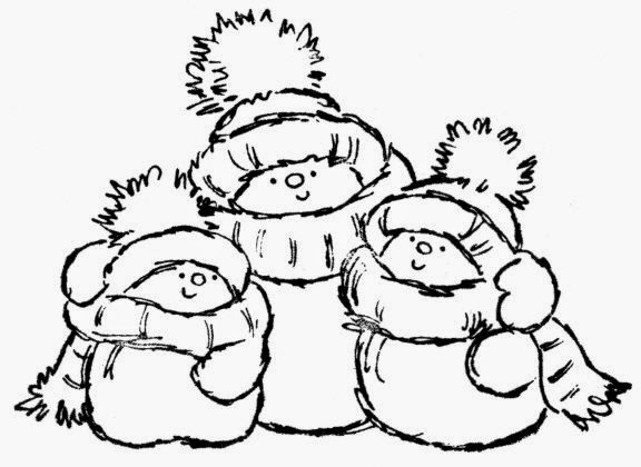 576x420 Cute Snowmen Free Printable Coloring Pages Is It For Parties