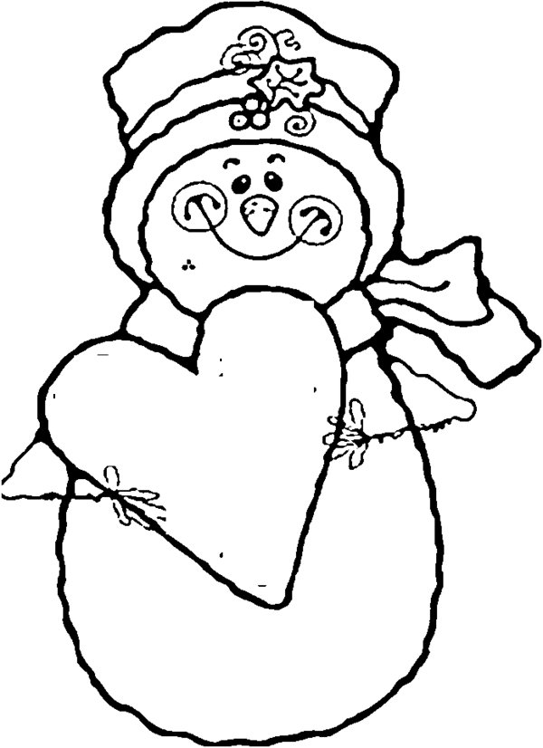 600x826 snowman coloring pages