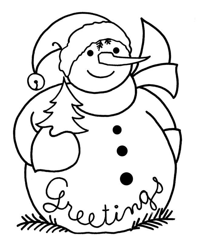 Cute Snowman Drawing At GetDrawings