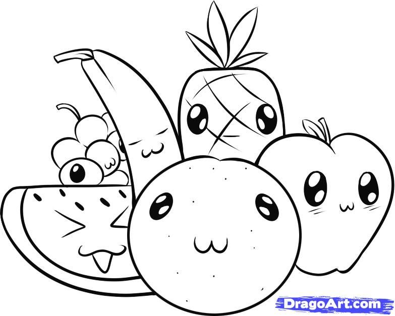 783x627 Nice Ideas Cute Fruit Coloring Best 25 Pages On Pinterest