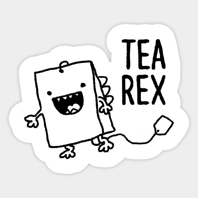 630x630 Cute Tea Bag T Rex Funny Food Pun Cartoon