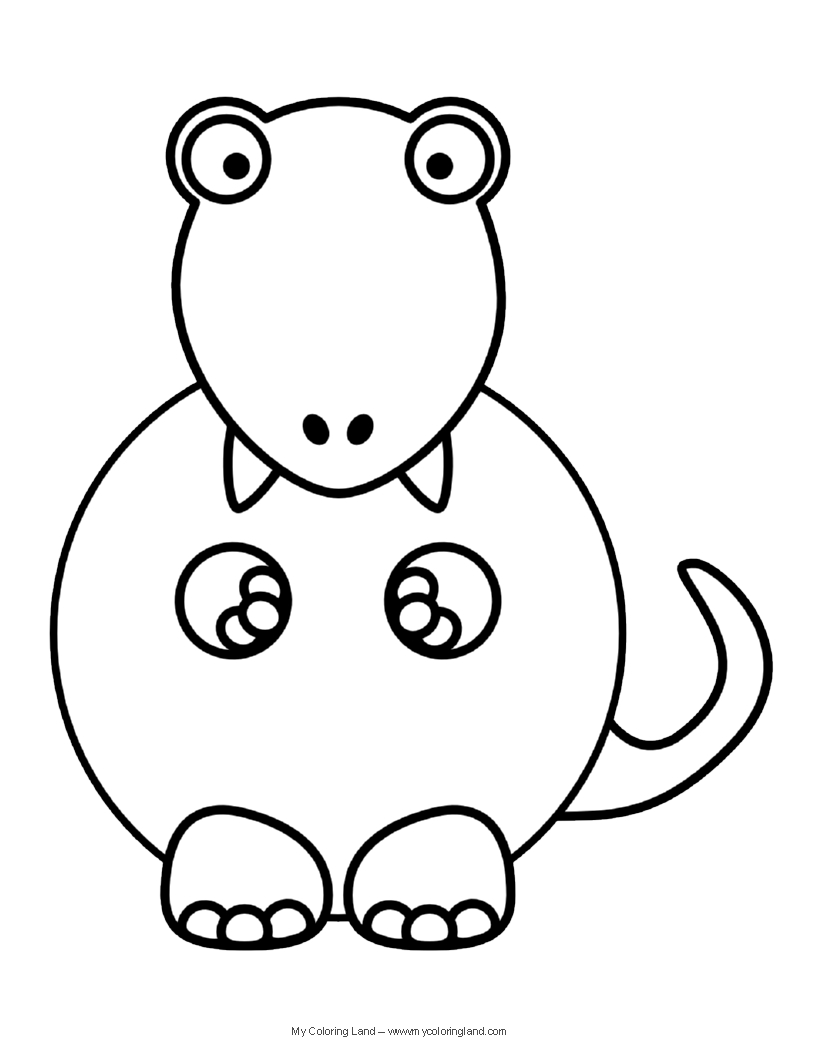 816x1056 Happy Cute T Rex Coloring Pages